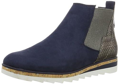 Marco Tozzi 25401, Botines para Mujer, Azul (Navy Comb 890), 40 EU: Amazon.es: Zapatos y complementos