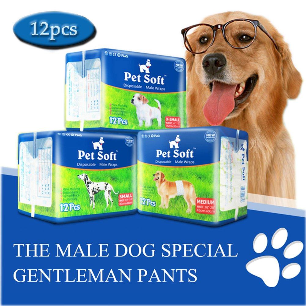 Pet Soft Disposable Male Wrap Dog Diaper