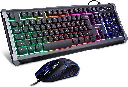 BAKTH Gaming toetsenbord en muis set: Amazon.nl