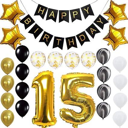 Amazon.com: Juego de globos para fiestas de cumpleaños con ...