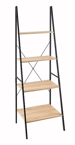 Nautical Wooden Ladder Shelves White