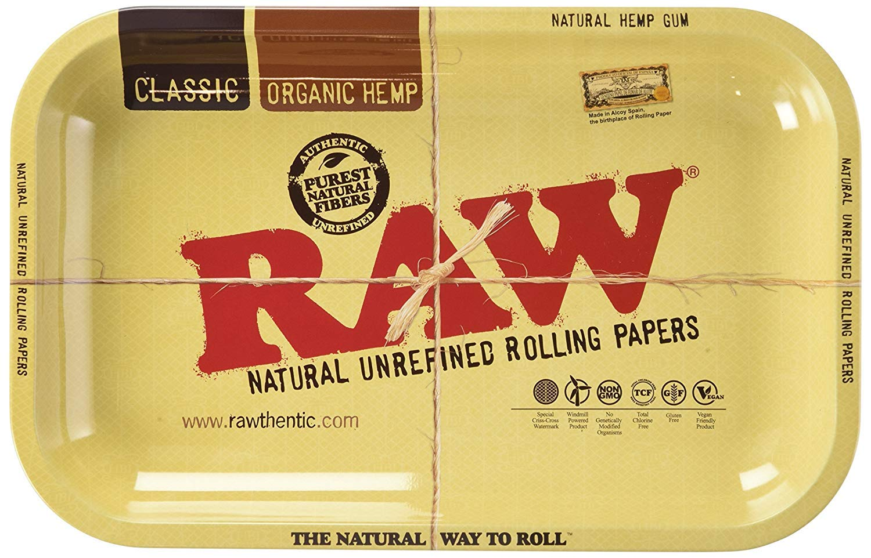 Raw - Bandeja para Liar Pequeña 27,94cm x 17,78cm Individual - Diseño
