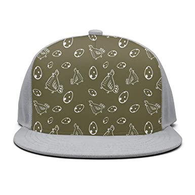 Amazon.com  ASWEQ Chicken Eggs Bucket Hat Baseball Team Cap  Clothing 62880f1a49e