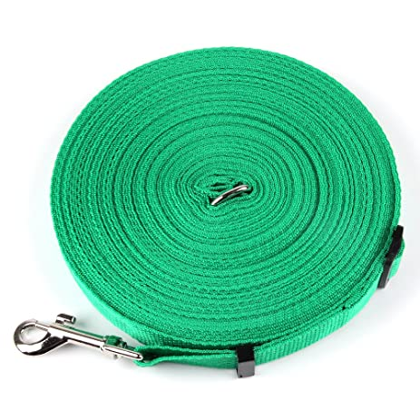 Gentil 100FT Long Lead Adjustable Nylon Dog Leash For Training Walking Play  Camping Or Backyard Suitable For