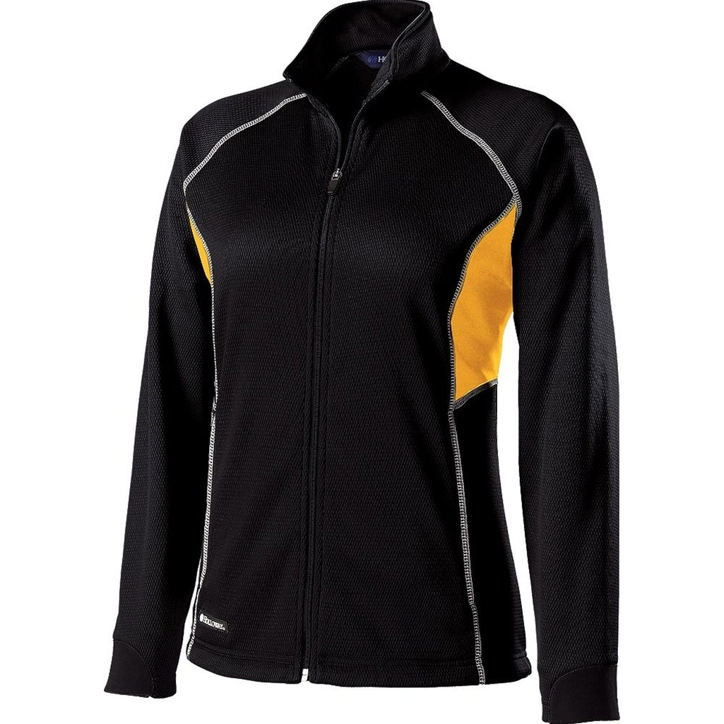 Holloway Ladies Dry Excel Momentum (X-Small, Black/Light Gold/White)
