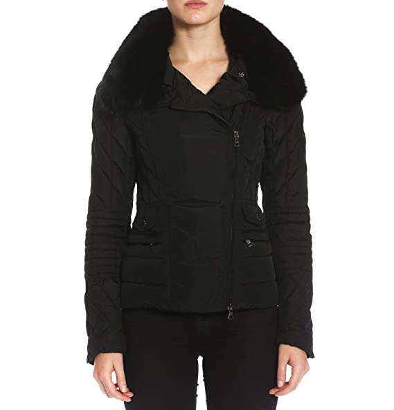 the latest save up to 80% great discount Members Only Womens Quilted Moto Biker Puffer Jacket with ...