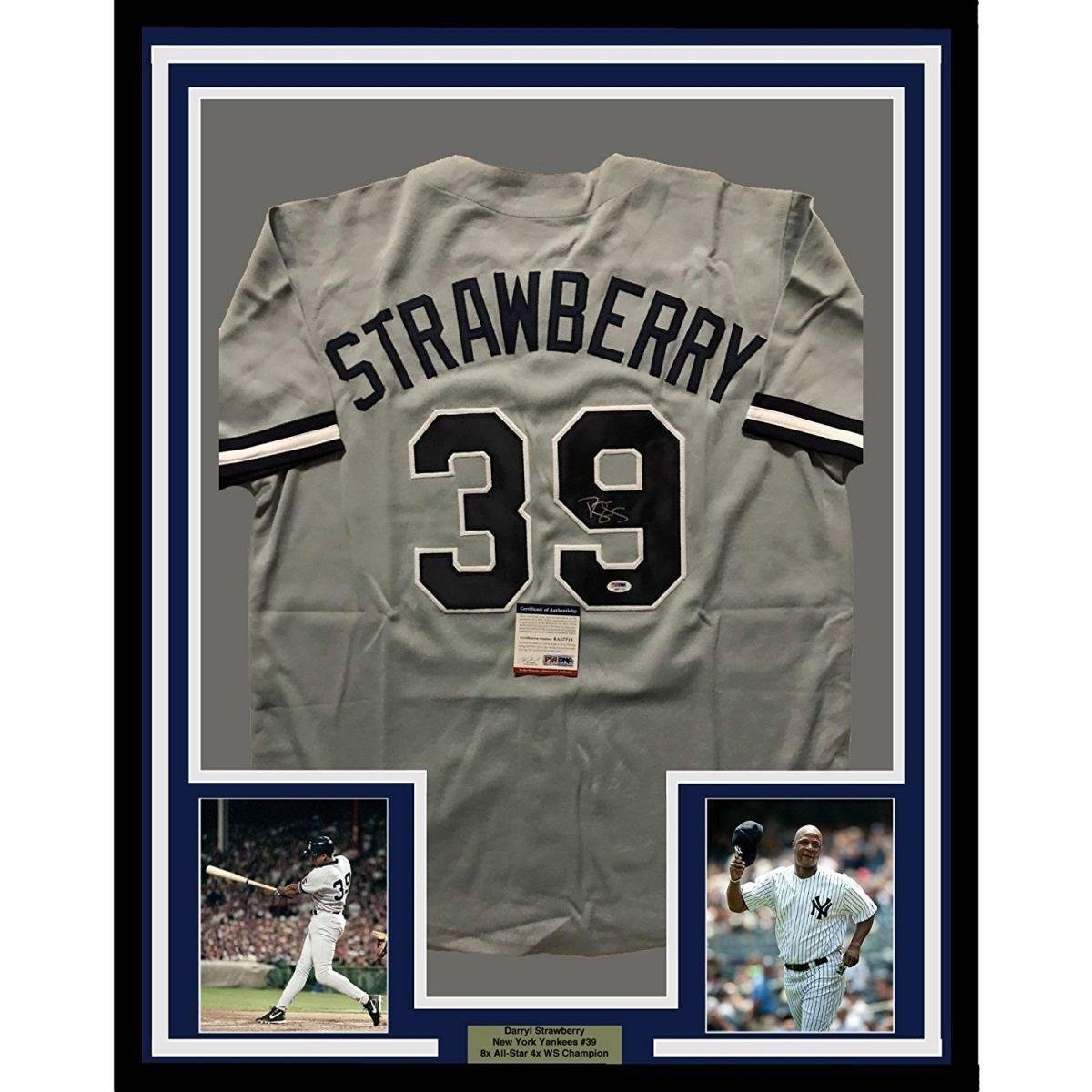 Autographed Darryl Strawberry Jersey - FRAMED 33x42 Grey COA - PSA DNA  Certified - Autographed MLB Jerseys at Amazon s Sports Collectibles Store 706f37f1022