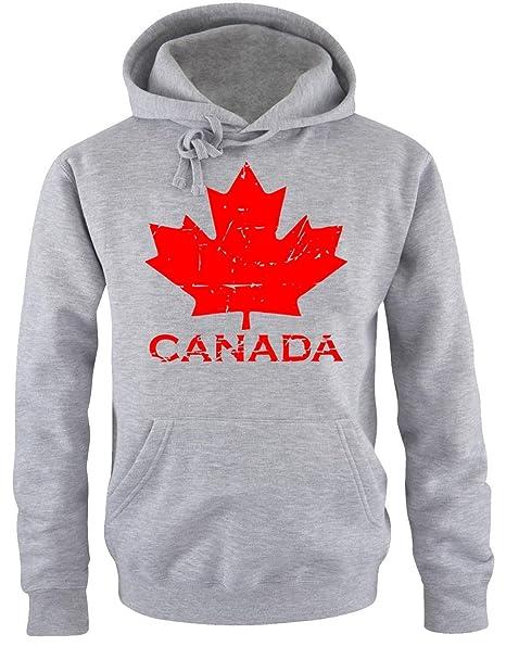 981a8398c8 Coole-Fun-T-Shirts Canada Vintage NEU Acero Canada Felpe con Cappuccio  Grigio Chiaro, Nero, Rosso SML XL XXL 3 XL