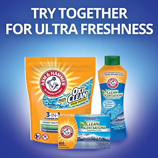 Amazon.com: Arm & Hammer Clean Scentsations in-wash Freshness Booster, Purifying Waters, 24 Ounce: Prime Pantry