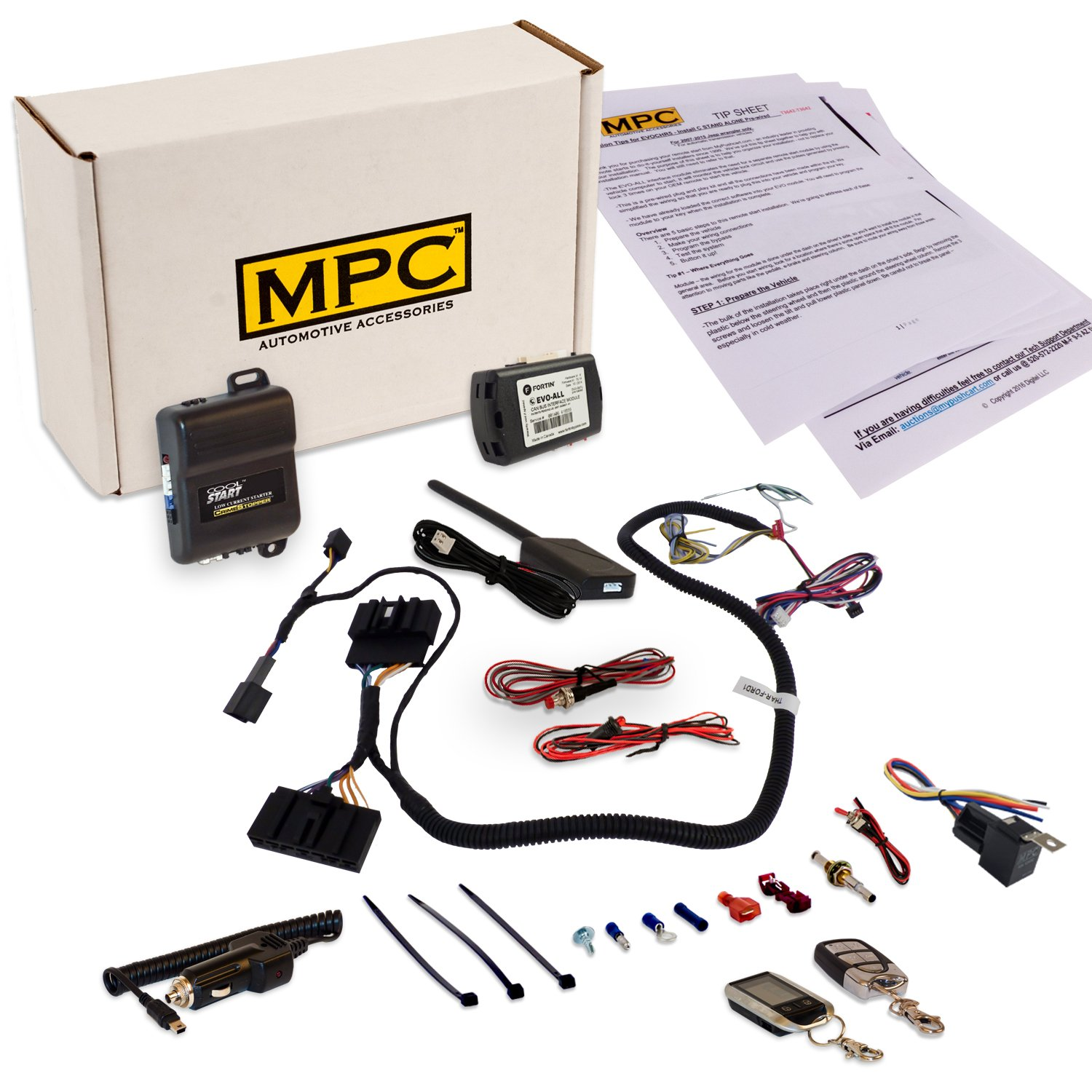 Mpc Complete Remote Start Keyless Entry Kit 2013 2014 Ford Transit Starter Connect W T Harness