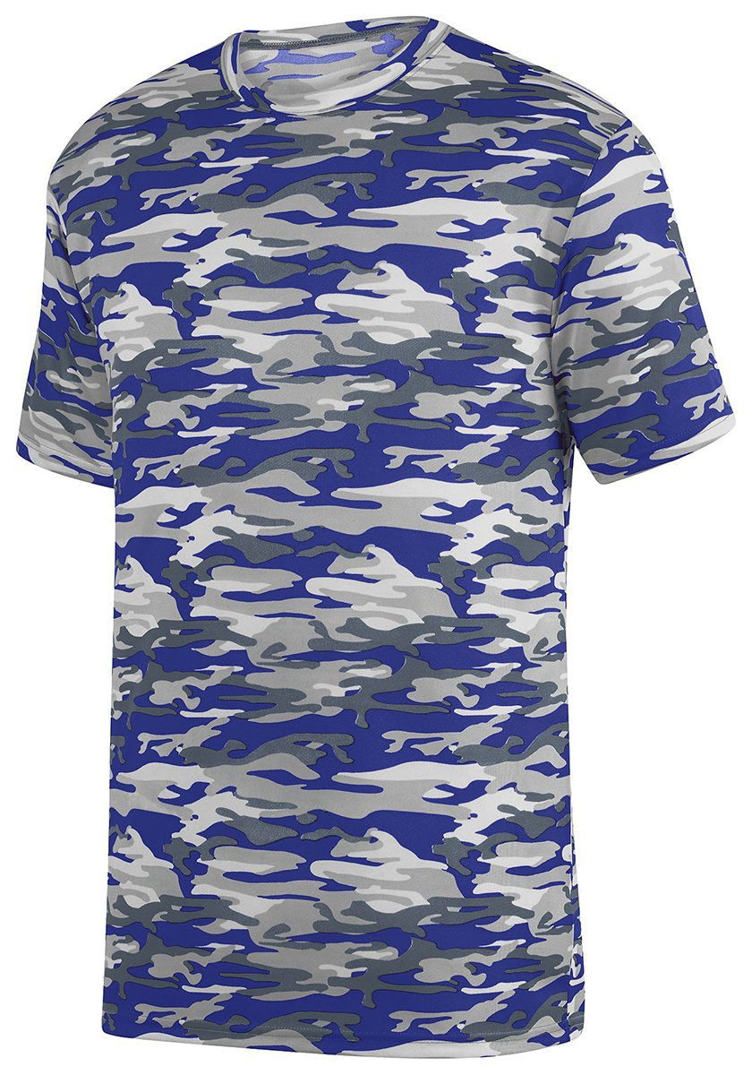 Augusta Sportswear Boys' Mod Camo Wicking Tee M Purple Mod Augusta Drop Ship 1806