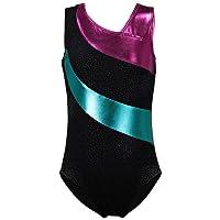 Spring One-piece Rainbow Stripes Ballet Dance Athletic Leotard for Little Girl