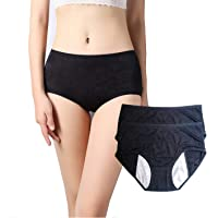 Anna & Eric Women's Menstrual Period Leakproof Protective Panties & C-Section Postpartum Underwear 2 Pack