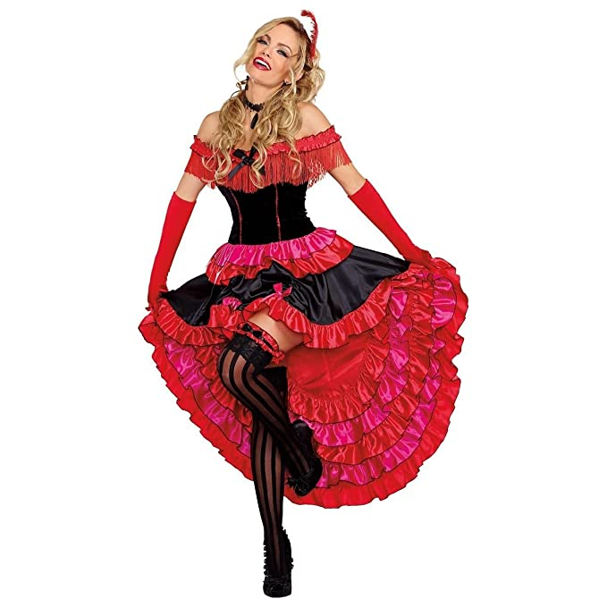 Victorian Costumes: Dresses, Saloon Girls, Southern Belle, Witch Saloon Girl Can Can Cabaret Dancer Dress Womens Adult Costume Reg & Plus Sizes $79.95 AT vintagedancer.com