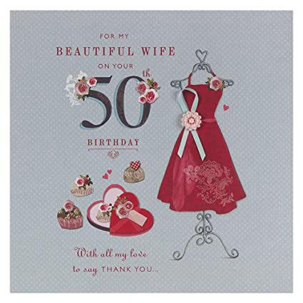 Amazon wife 50th birthday birthday greetings card office wife 50th birthday birthday greetings card m4hsunfo