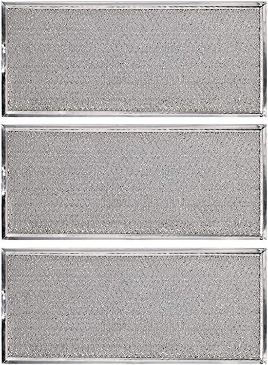KONDUONE 3-Pack of W10208631A Filter for Whirlpool Microwave Oven Grease Filter Approx. 13