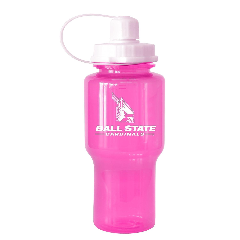 24-Ounce Boelter Brands 282432 NCAA Ball State Cardinals Tritan Travel Mate Pink Water Bottle