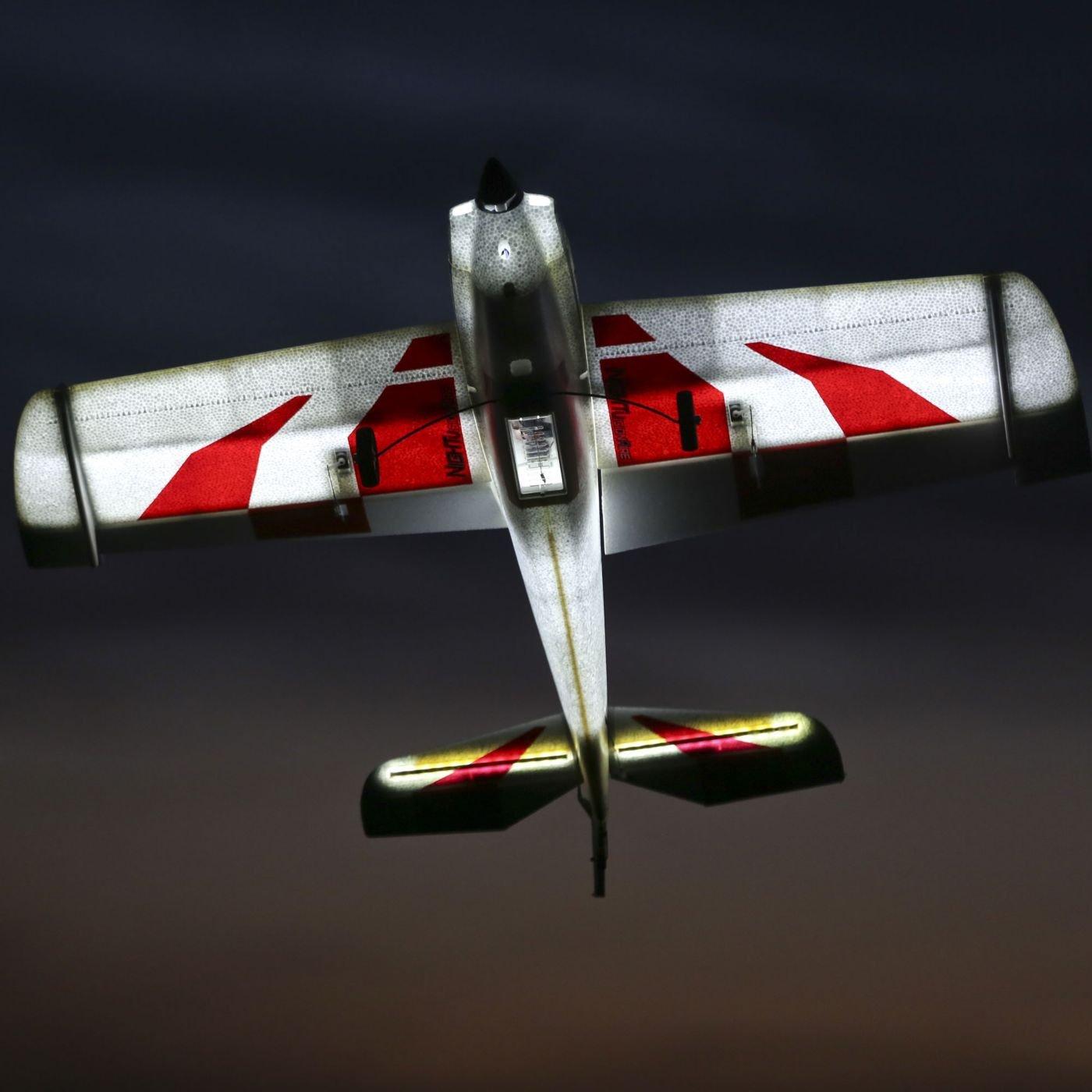 Amazon.com: E-flite NIGHTvisionaire BNF Basic RC Airplane: Toys & Games
