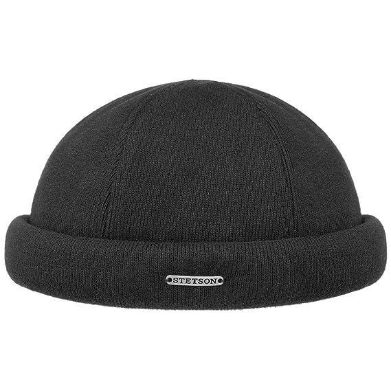 bc452fd80cb Stetson Docker Knit Hat Winter Cotton  Amazon.co.uk  Clothing