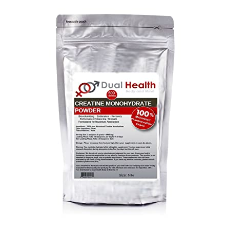 Pure Micronized Creatine Monohydrate Powder 5 lbs Bulk Supplements