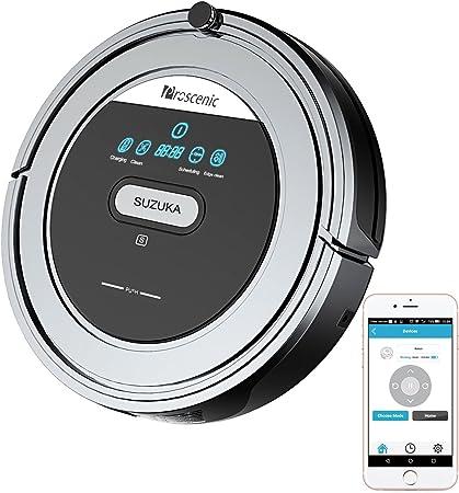 Proscenic Robot Aspirador y de Limpieza SUZUKA WIFI con Control Remoto a Traves Del Smartphone, protección contra caídas, filtro HEPA, ideal para suelos y alfombra: Amazon.es: Hogar