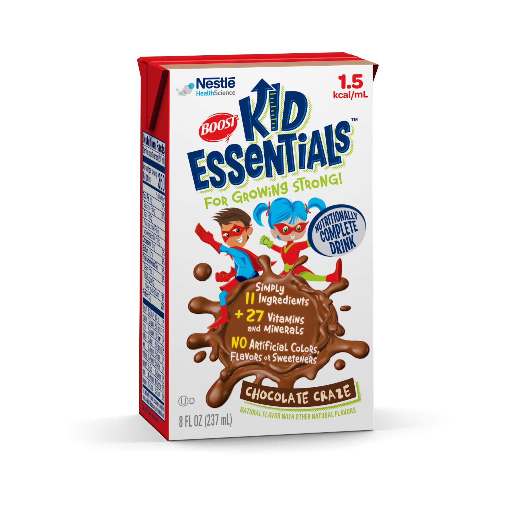 Boost Kid Essentials 1.5 Nutritionally Complete Drink, Chocolate Craze, 8 Ounce, Pack of 27 by Boost Kids Essentials