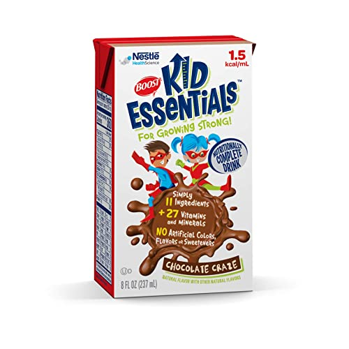 Boost Kid Essentials 1.5 Nutritionally Complete Drink, Chocolate Craze, 8 Ounces Pack of 27