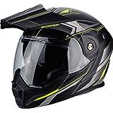 Scorpion ADX-1 Anima Motorradhelm, XXL, Mattschwarz/Neongelb