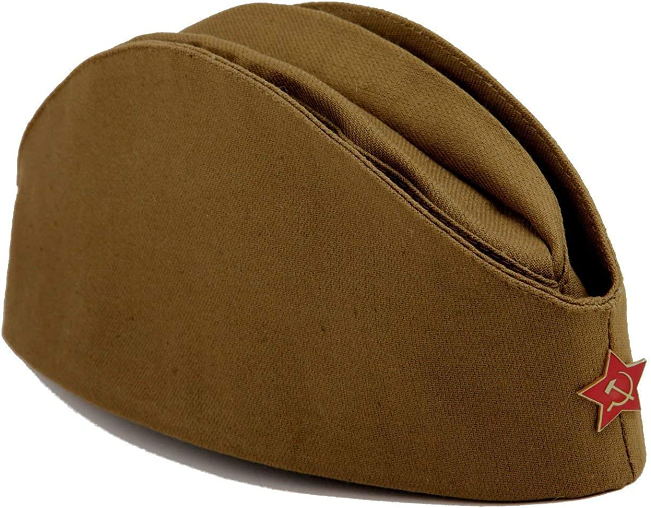 bb1ea87de USSR Military WW2 Side Cap/Soviet Hat Pilotka Khaki Russian Army incl. Red  Star