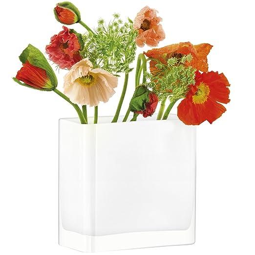 Jarr/ón para flores rectangular LSA International tranparente 22 cm de altura