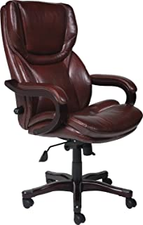 Amazoncom Big And Tall Office Leather Chair With Memory Foam For