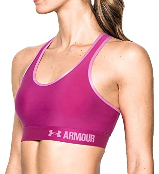 Under Armour Armour Mid Solid Sujetador Deportivo, Mujer: Amazon ...