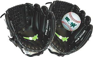 Bronx - Guanto + palla per ricevitore di baseball principiante 25 cm, colore: Nero/Bianco 890JSET