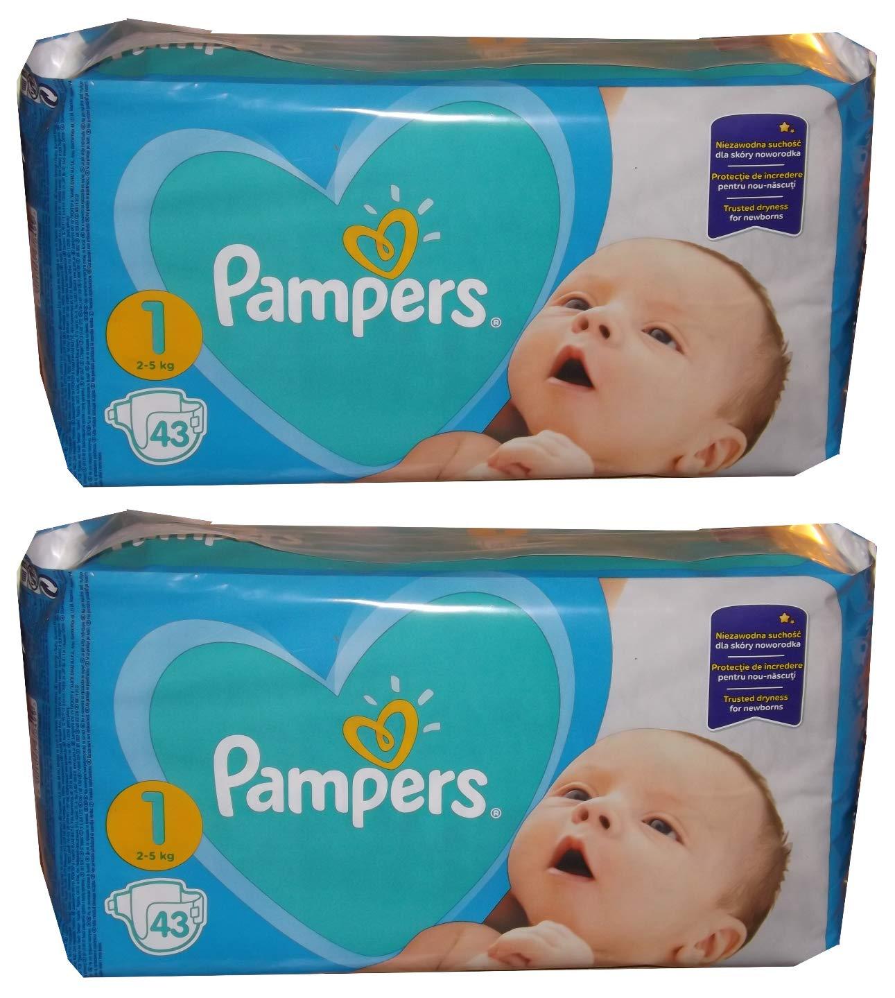 2 x 43 newborn 86 2-5 kg 1 beb/é pa/ñales New DRY Gr peso: 2-5KG