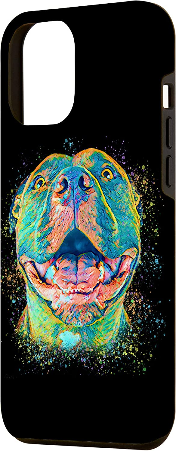 iPhone 12 Pro Max Cute Pitbull Lover Pit Bull Painting Pittie Dog Face Gift Case