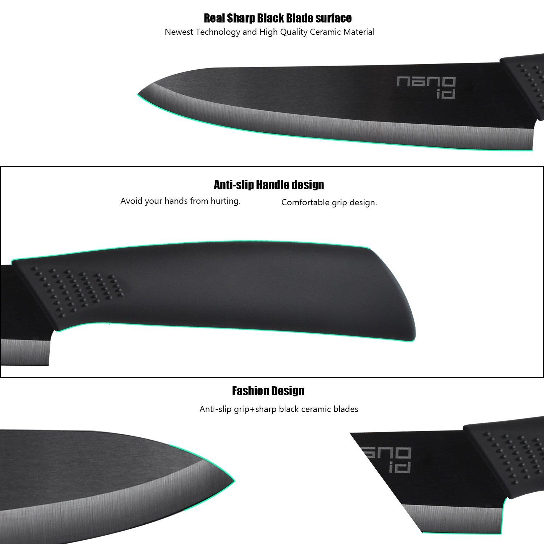 Ceramic Knife Set Nano ID Modern Kitchen Knife Very Sharp by NANO ID (Image #4)