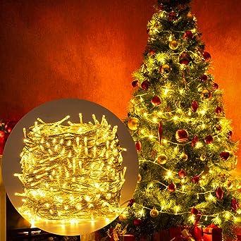 Luces Navidad Exterior, Ulinek 100M 500LED Guirnalda Luces Navidad para Interior Habitacion Arbol Impermeable 8Modos Caden Luces Led Decorativas para Navideñas Fiesta Terraza Exterior Bodas Jardin: Amazon.es: Iluminación