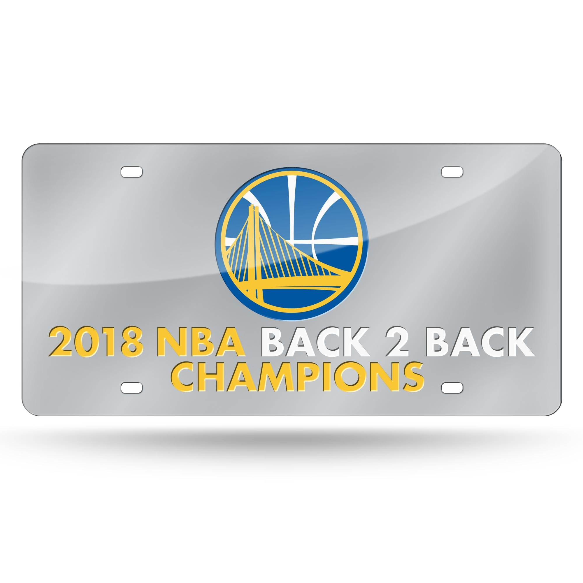 Rico Golden State Warriors Official NBA 2018 National Champions License Plate Mirror 387400