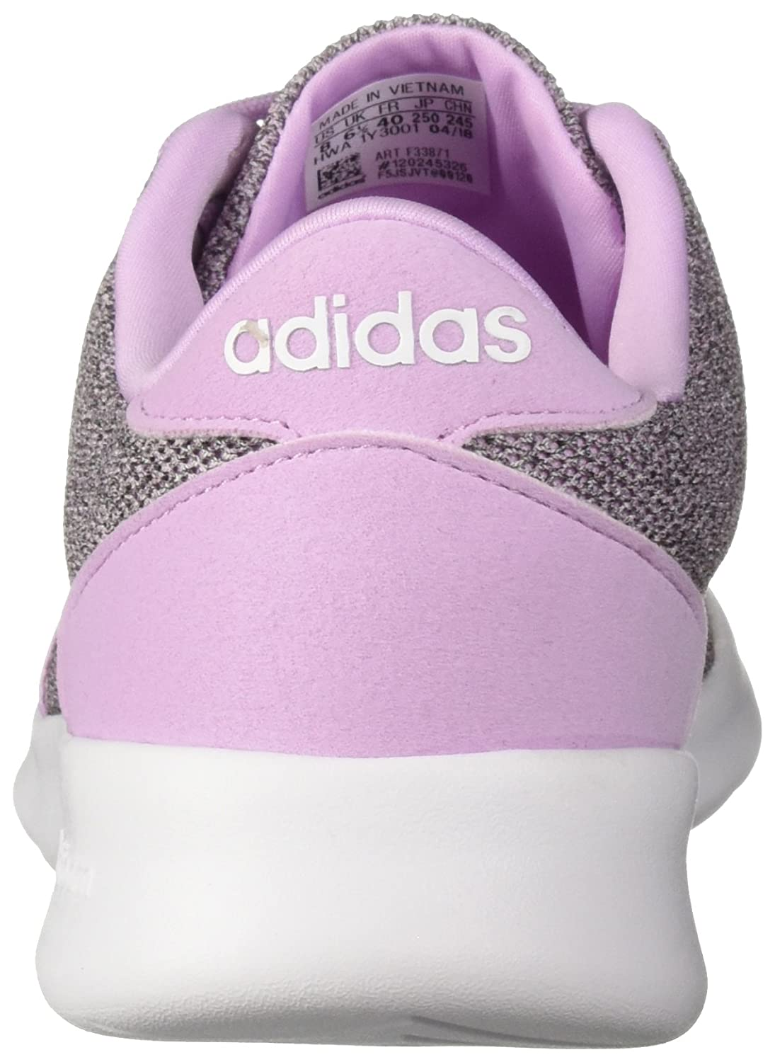 adidas Women's Cf Qt Racer Running Shoe B077XBZYCW 8.5 B(M) US|Clear Lilac/White/Black