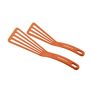 Rachael Ray Tools & Gadgets 2-Piece Nylon Spatula Set, Orange