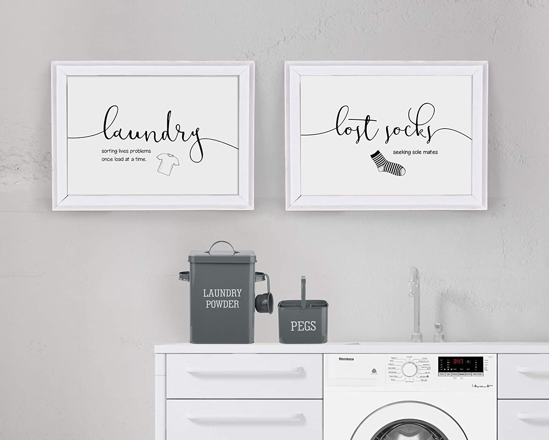 Laundry Art Prints Set Of Two Unframed Wall Decor Poster Amazon Co Uk Handmade