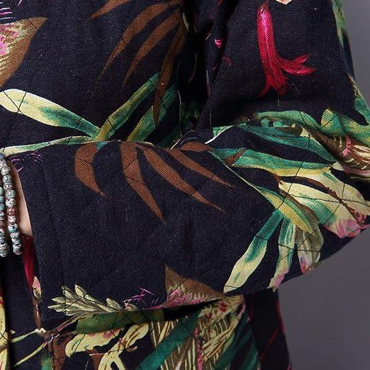 Abrigos Largos Mujer Invierno Rebajas ZARLLE Chaqueta Suéter Impreso más Grueso Abrigo Suelto algodón Jersey Mujeres Invierno Talla Grande Hoodie Sudadera ...