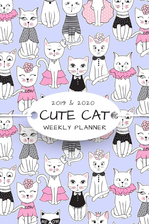 2019 & 2020 WEEKLY PLANNER: Funny & Cute Cat Agenda Planner ...