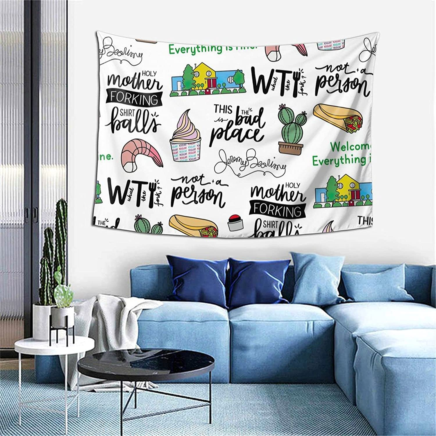 The Good Place Tv Show Art Tapestry Psychedelic Wall Hanging Tapestry For Room,Home Decor (60x40inch)