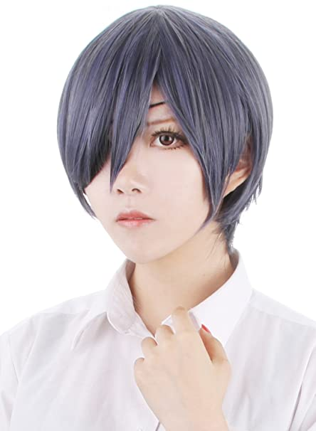 d44b407cd Amazon.com  Probeauty Black Butler Mix Color Short Straight Ciel Wig Cosplay +Wig Cap  Clothing
