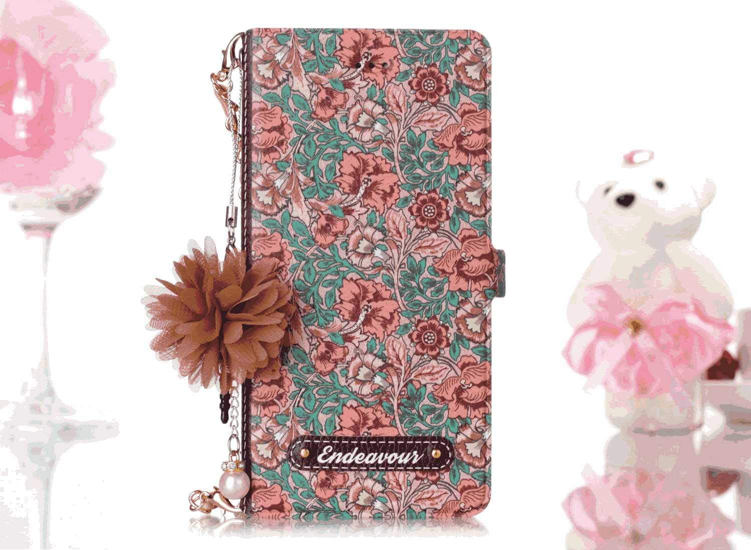 Simple Flip Case Fit for Samsung Galaxy A50 Rose Leather Cover Wallet for Samsung Galaxy A50