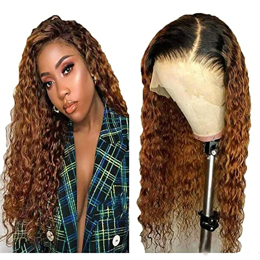 13x4 Lace Front Wigs For Black Women Human Hair 1b 27 Ombre Honey Blonde Short Bob Wigs Brazilian Virgin Hair Curly Bob Wigs With Baby Hair Pre Plucked 16 Inch 1b 30 Lace Front Wig Beauty Amazon Com