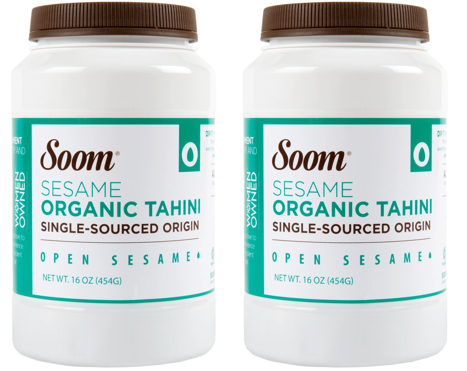 Soom Foods Organic Pure Ground Sesame Tahini Paste, 16oz (Pack of 2)
