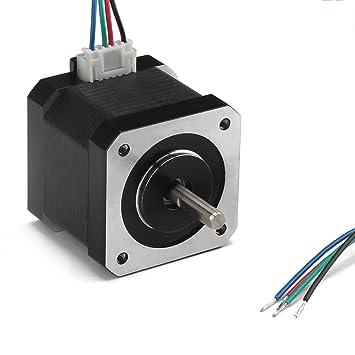 DROK® Motor paso a paso Nema 17 Bipolar 40m m 2 fase, 64oz.in (0.46