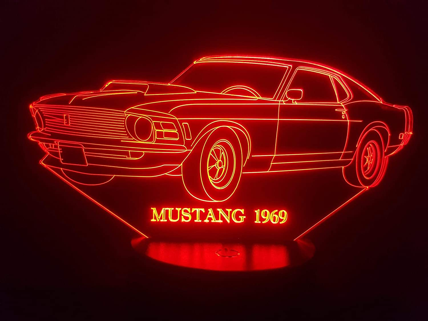 FORD MUSTANG 1969, 3D-Lampe LED